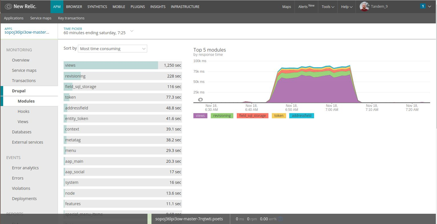 New Relic Before Tweaks Results